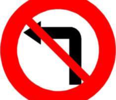 Biển báo cấm rẽ trái P.123a